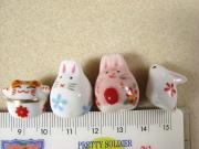 陶器ビーズ ウサギ