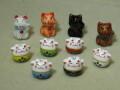 陶器ビーズ ネコ